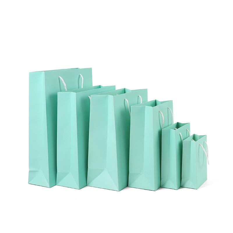 ZHUOLIANG Túi giấy Túi quà cưới màu xanh Túi cưới châu Âu tươi với túi quà tay túi giấy