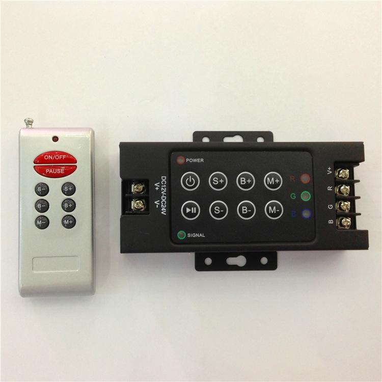 MDXD Mạch bo Bộ điều khiển chính RF8 Nhà máy Bộ điều khiển trực tiếp RGB T8 30A Đèn không dây đầy mà