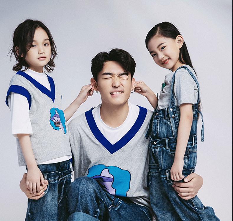 Áo thun gia đình Quần áo trẻ em mới cho trẻ em ở Mar9Name