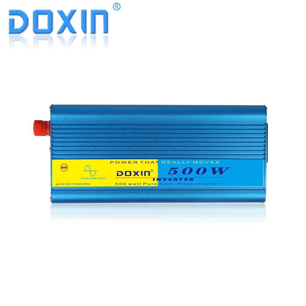 DOXIN sóng sin tinh khiết 500W quang điện mặt trời biến tần 12 V đến 220 V