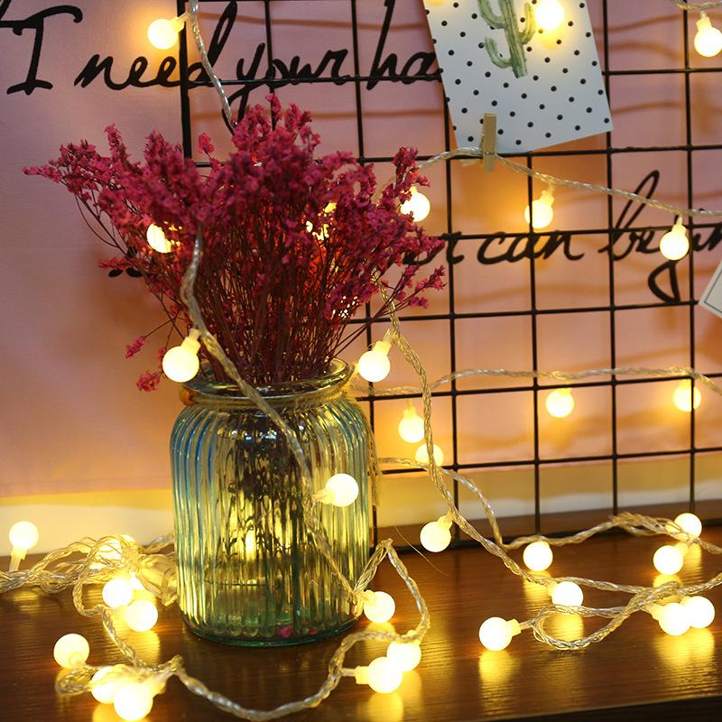 XINGUANG Đèn trang trì Led dây đèn Giáng sinh ngoài trời không thấm nước pin hộp đèn chuỗi ngày lễ t