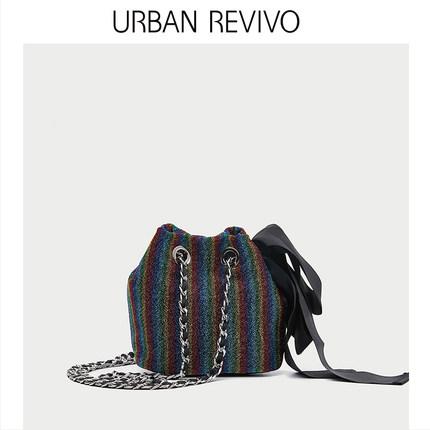 Túi xách nữ thời trang  UR ĐÔ THỊ REVIVO2019 hè mới dành cho nữ thanh niên phụ kiện sọc túi xách AV2