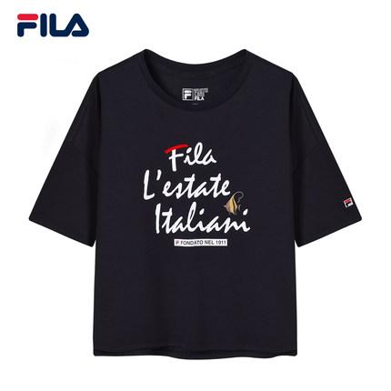 Áo thun FILA Áo thun ngắn tay của phụ nữ Fila Fila chính thức 2019 Mùa hè mới Thể thao giản dị Graff