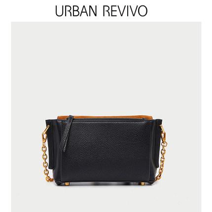 Túi xách nữ thời trang  UR URBAN REVIVO2019 phụ nữ mới phụ kiện màu tương phản đơn giản Túi Messenge