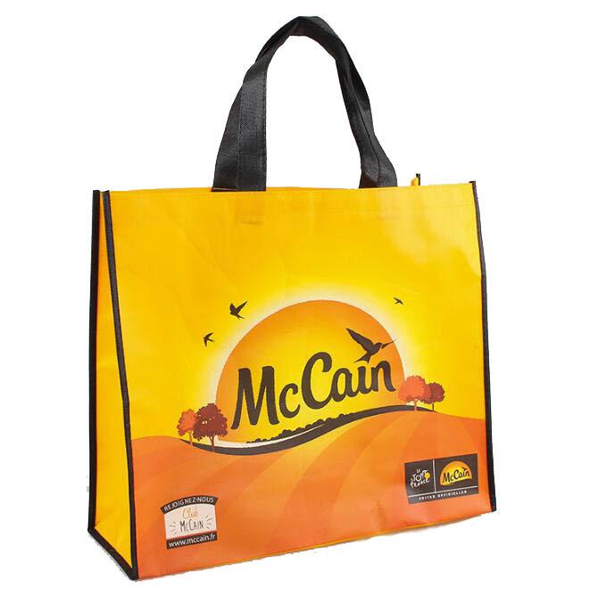Túi vải không dệt Nhà máy bán buôn có một mặt bên dưới túi vải không dệt quảng cáo In màu túi xanh s