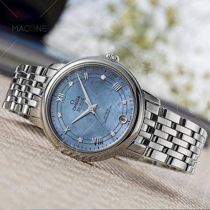 Đồng hồ thông minh  OMEGA Bảo hành toàn cầu Đồng hồ đeo tay nữ OM OM Elegant Elegant Swiss Watch 424