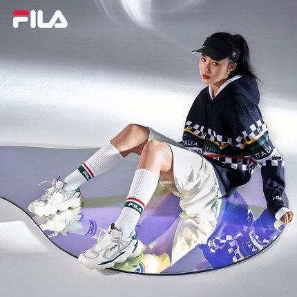 Giày lười / giày mọi đế cao  FILA Fila chính thức Giày nữ chạy bộ retro của phụ nữ SKIPPER 2019