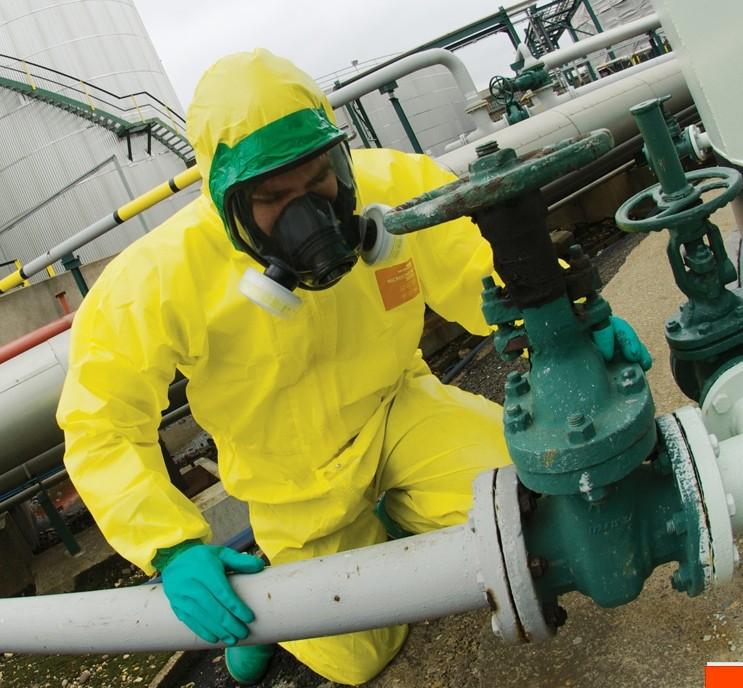 WEIHUJIA Trang phục chống cháy , Quần áo bảo hộ hóa chất kháng axit và kiềm