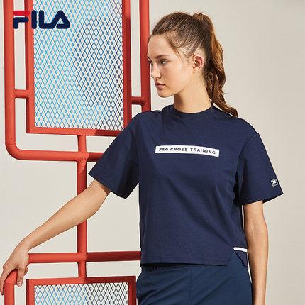 Áo thun FILA Áo thun ngắn tay của phụ nữ Fila Fila chính thức 2019 mùa thu mới