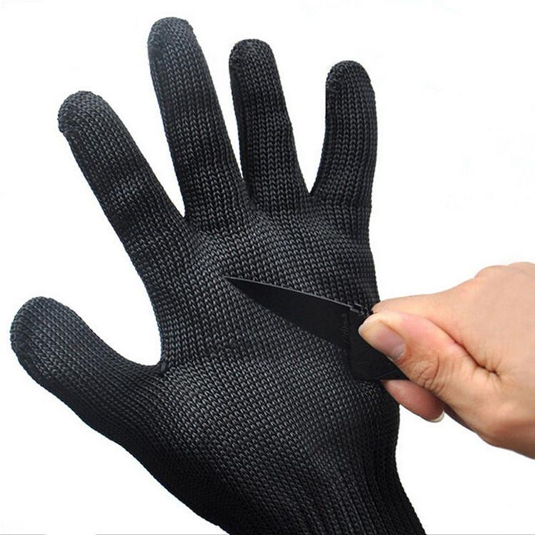 LONGXU Găng tay chống cắt Bảo vệ chống cắt găng tay chống gai chính hãng dày 5 cấp tự vệ chống dao b