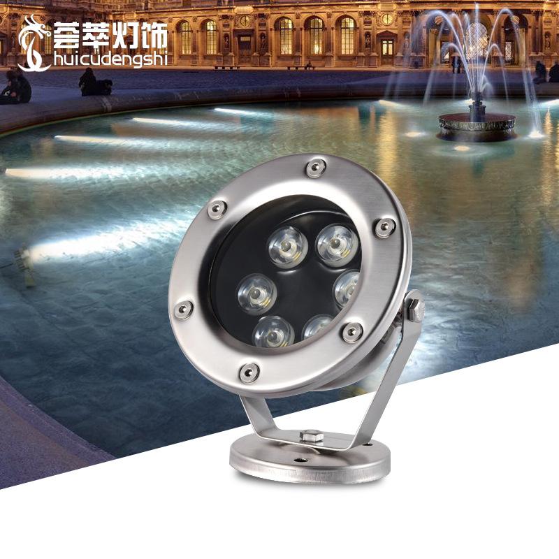 Đèn LED âm nước Led ánh sáng dưới nước ánh sáng dưới nước không thấm nước điện áp thấp 12V đầy màu s