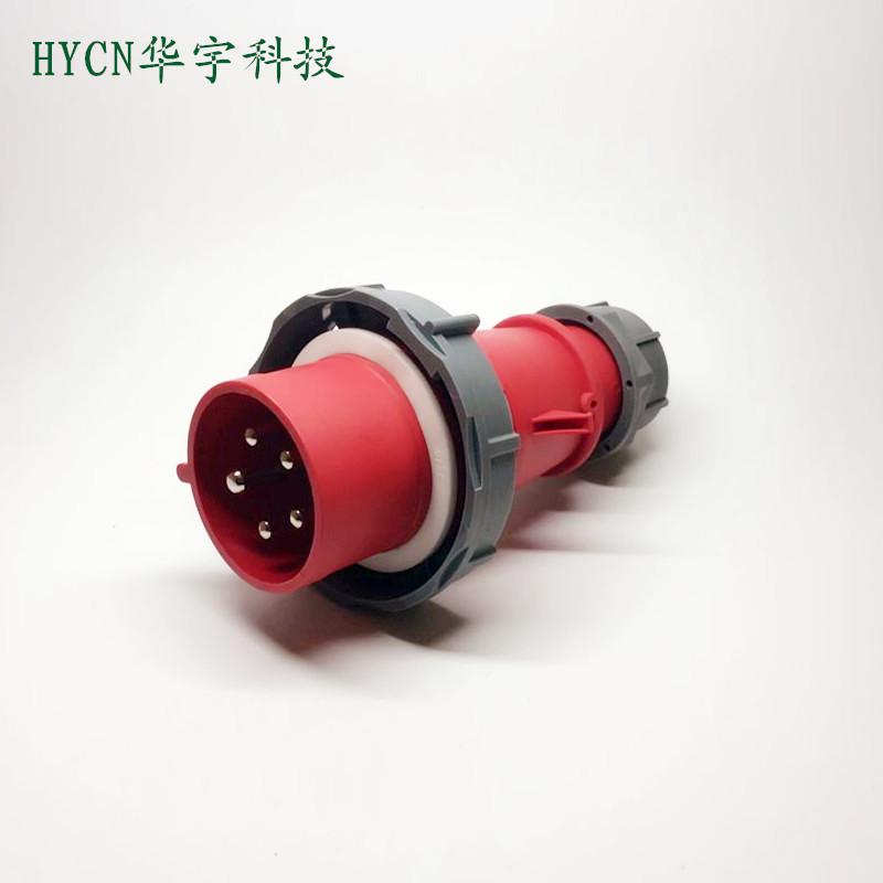 Đầu cắm Phích cắm công nghiệp 5 lõi bán buôn 32A3P + N + E380-415V IP676H đỏ HY-0251