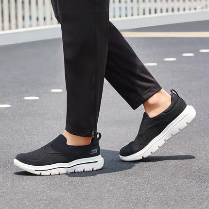thị trường giày nam Skechers Giày nam Skechers thời trang mới một chân đặt giày đi bộ đơn giản giày