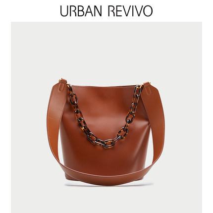 Túi xách nữ thời trang  URBAN REVIVO2019 phụ kiện mới cho phụ nữ túi da đơn giản AG02SB2S2000