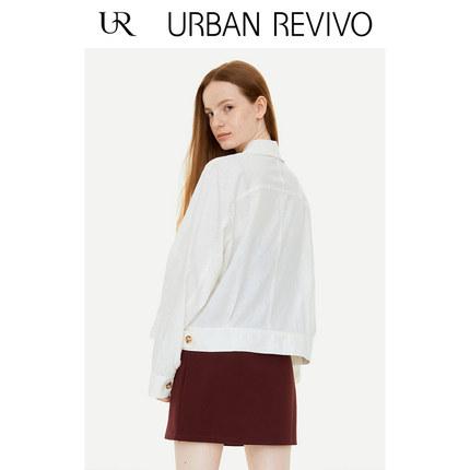Áo khoác lửng UR2019 mùa thu mới giới trẻ nữ giản dị khóa một hàng áo khoác ngắn YL30R1BE2000