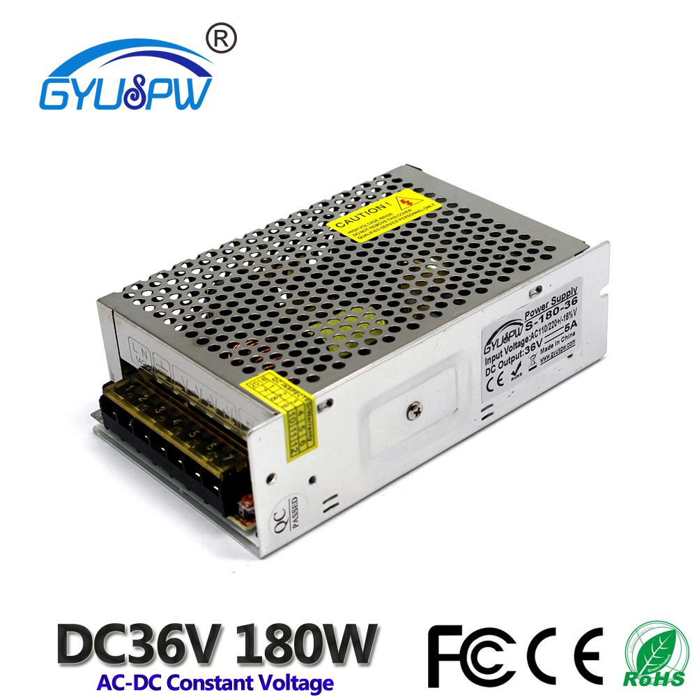 GYUSPW Bộ nguồn cho đèn LED Công suất ổ đĩa LED DC36V Bộ cấp nguồn biến áp DC 220 V xoay 36V180W màn