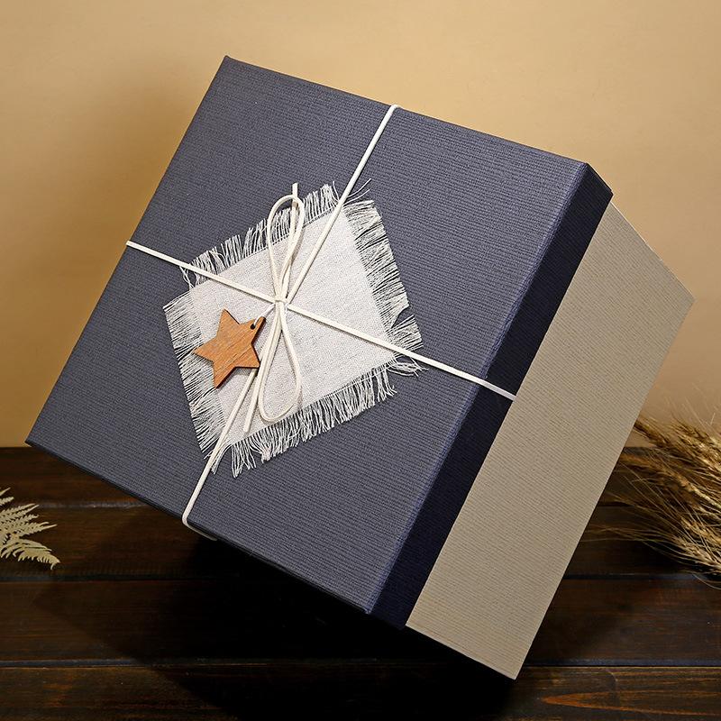 KAIXUN Hộp giấy bao bì Hộp quà tặng hình vuông hộp son môi mỹ phẩm với bàn tay lớn hộp quà tặng trời