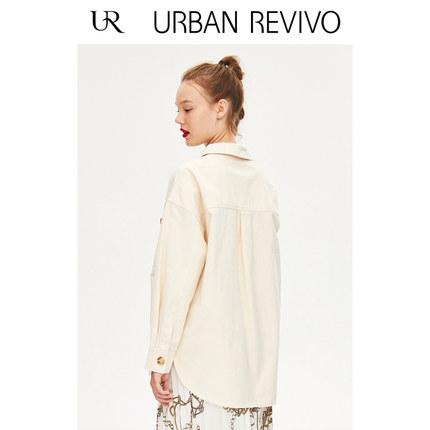 Áo khoác lửng UR2019 mùa thu thanh niên mới dành cho nữ bình thường áo khoác nút áo khoác YL31R1LN20