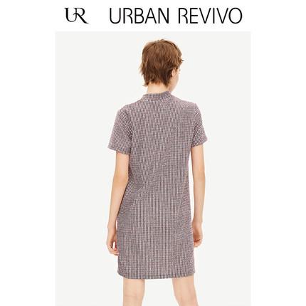 Đầm UR2019 thanh niên mới của phụ nữ phong cách retro mẫu cổ tròn YL04R7BN2000