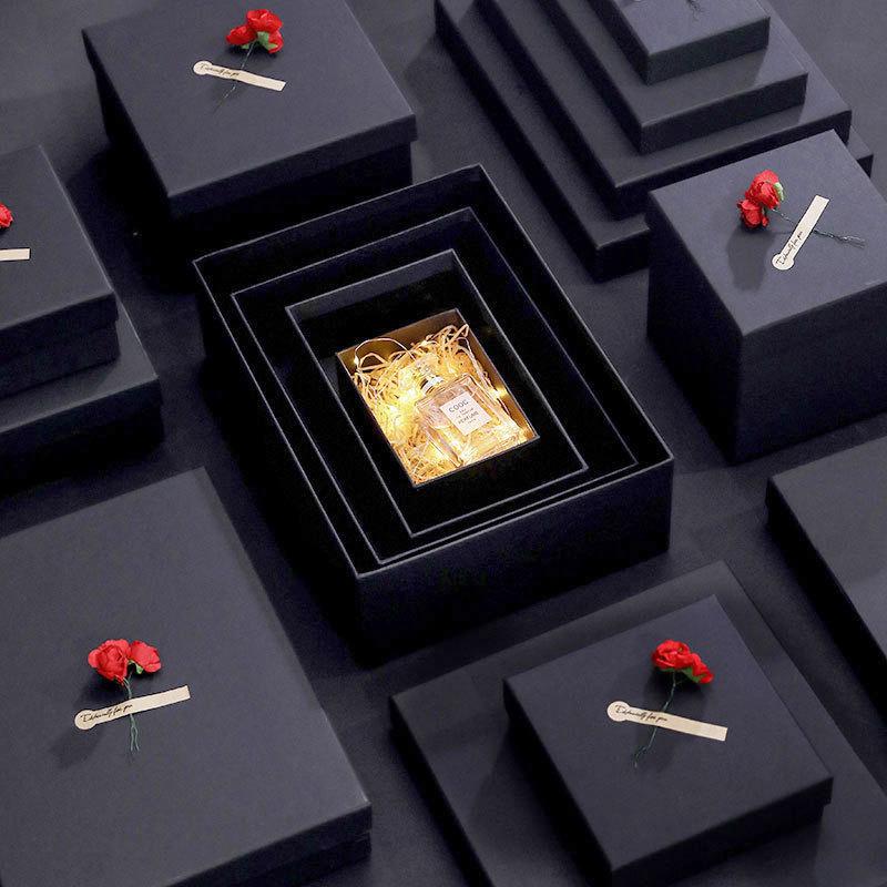Redis Hộp giấy hình chữ nhật hộp quà lớn giấy kraft hộp nước hoa son môi hộp quà tặng tinh tế hộp qu