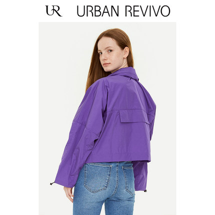 Áo khoác lửng UR2019 mùa thu mới giới trẻ nữ đơn giản hạn chế tay áo cổ áo ngắn YV30R1BE2001