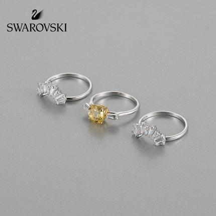 đồ trang trí trang phục Swarovski Mẫu mặt trời Swarovski SunSHINE Tình yêu ấm áp Ba chiếc nhẫn xếp c