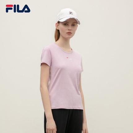 Áo thun FILA Áo thun ngắn tay nữ chính hãng của FILA Fila 2019 Mùa hè mới đơn giản Màu sắc thêu da n