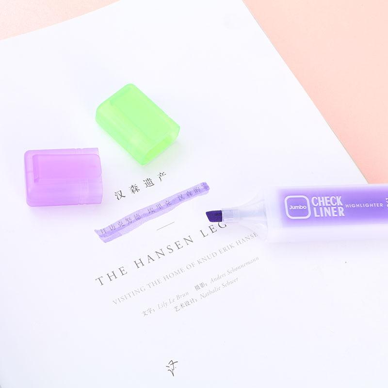 AIHAO Bút dạ quang Sở thích văn phòng phẩm dễ thương sáng tạo văn phòng phẩm kẹo màu công suất lớn h