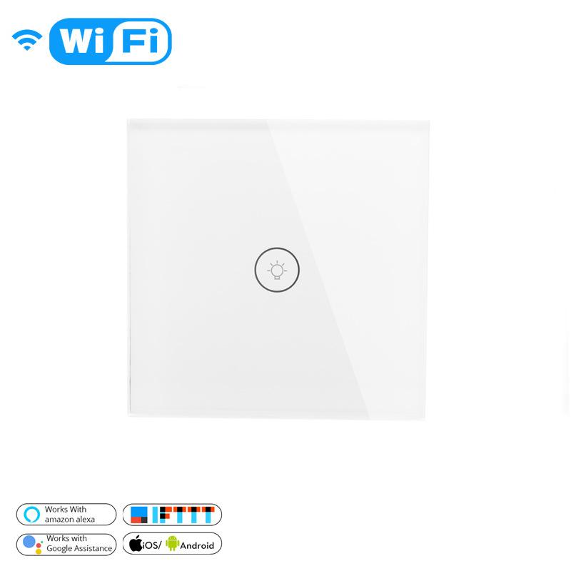 Công tắc 86 loại WIFI công tắc tường thông minh 1 cách điều khiển bằng giọng nói cảm ứng