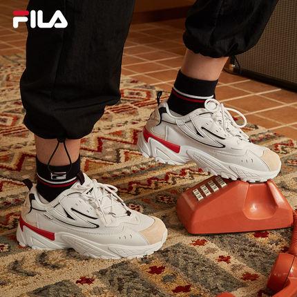Giày lười / giày mọi đế cao FILA Fila Official CALIPER Giày nữ Daddy 2019 Mới Giày thể thao thủy tri