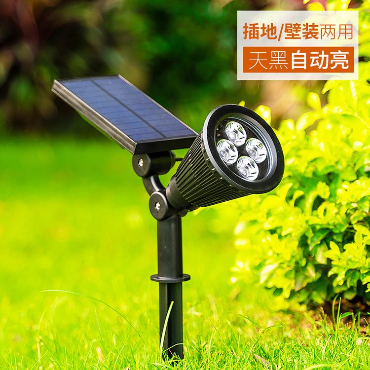 LEIOUKE Đèn LED thảm cỏ tích hợp năng lượng mặt trời