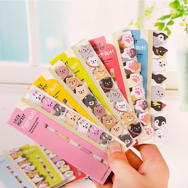 XUFENG Giấy note 0645 Hàng văn phòng phẩm dễ thương của Nhật Bản và Hàn Quốc đánh dấu động vật ngồi