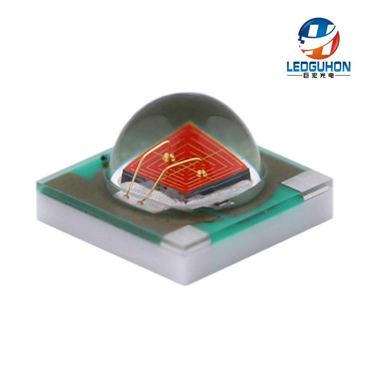 LEDGUHON LED dán Nhà sản xuất bán buôn công suất cao 3W đèn LED màu đỏ hạt gốm 3535 gói LED 620nm đè