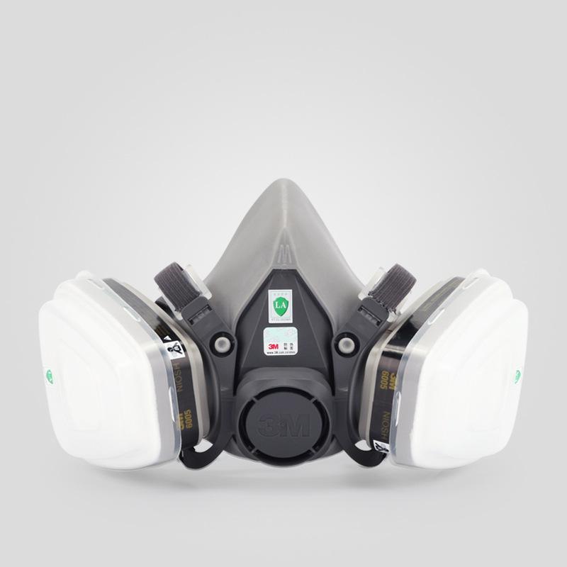 3M Mặt nạ phòng chống khí độc 6200 chính hãng với mặt nạ khí 6005 Mặt nạ chống formaldehyd hữu cơ