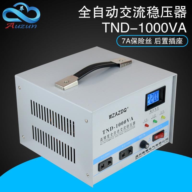 AOZUN Thiết bị ổn áp Bộ điều chỉnh điện áp tự động một pha hộ gia đình 1000W