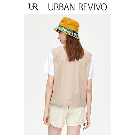 Áo khoác lửng UR2019 hè mới giới trẻ xu hướng may túi vest YV21S1AE2000