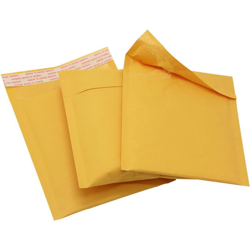 Net edge bao thư chống sốc Giấy kraft màu vàng phong bì bong bóng xem bong bóng túi nhanh gói bưu ch
