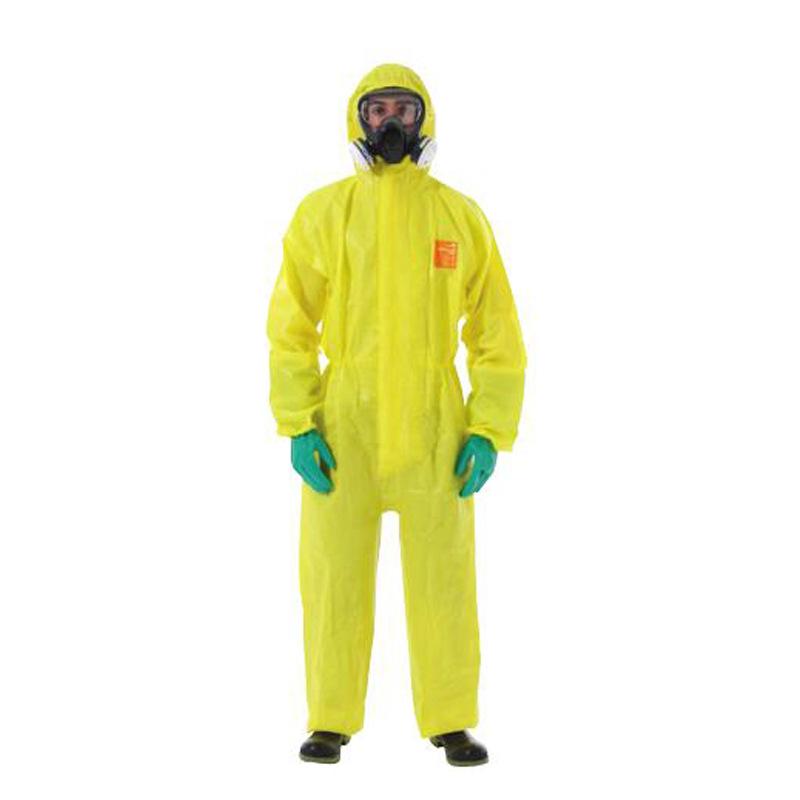 WEIHUJIA Trang phục bảo hộ Bán buôn [bảo vệ vi mô] Quần áo bảo hộ hóa chất kháng axit và kiềm 3000 M