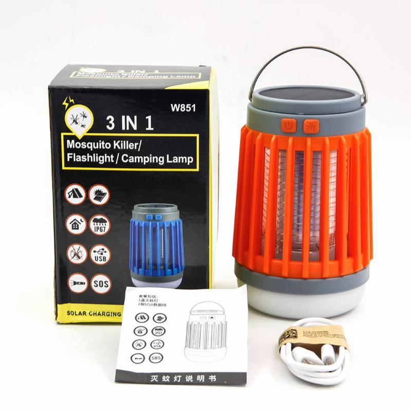 E-SMARTER Đèn diệt muỗi Đèn LED mới chống sốc loại muỗi chống nước ngoài trời sạc USB