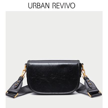 Túi xách nữ thời trang  URBAN REVIVO2019 phụ kiện mới dành cho phụ nữ dòng xe kẻ sọc túi đeo chéo AE