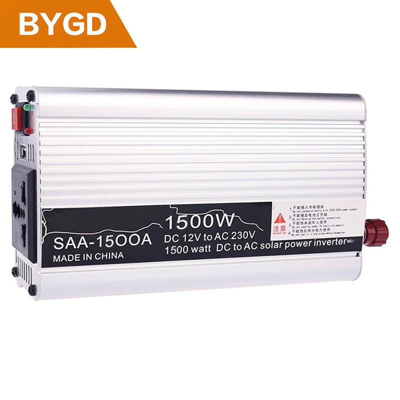 BYGD Thiết bị biến áp , Biến tần 1500W 12 V đến 110 V / 220 V