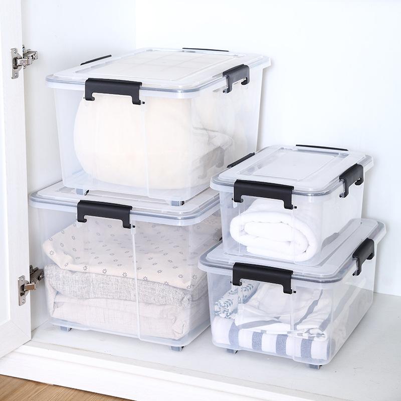 Thùng nhựa Nhà máy trực tiếp trong suốt niêm phong hộp chống ẩm hộp dày thêm hộp nhựa PP lớn hộp lưu