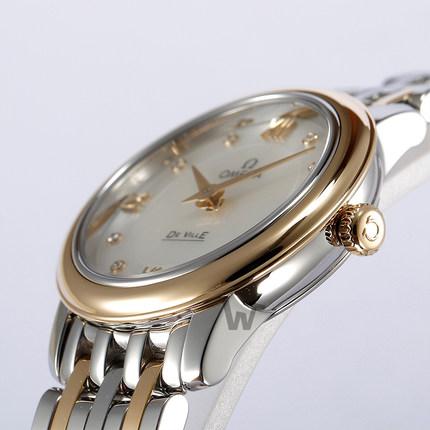 Đồng hồ thông minh  OMEGA [mua theo lịch trình] Đồng hồ Omega bay bướm loạt đồng hồ nữ thạch anh 424