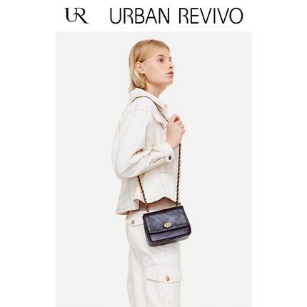 Áo khoác lửng UR2019 mùa thu mới của phụ nữ nhẹ nhàng nấu chín vòng eo áo khoác ngắn YL33S1BE2000