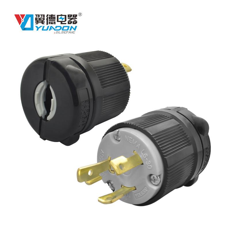 YuaDon Đầu cắm Nema L6-30P Ổ cắm điện công nghiệp cao của Mỹ