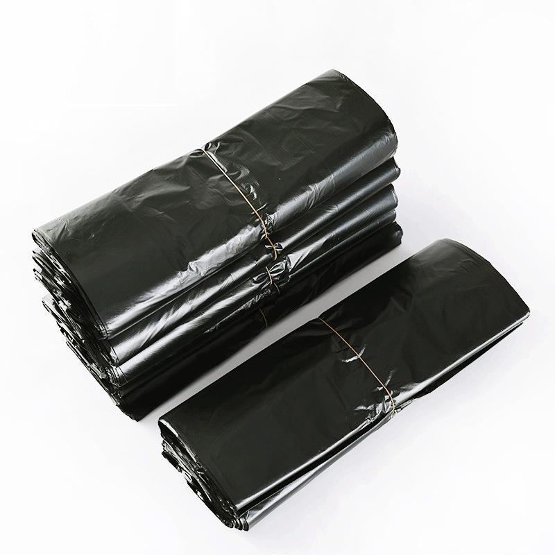 MINGXUAN Túi xốp 2 quai Vest loại túi rác màu đen hộ gia đình dày dùng một lần túi rác cầm tay túi n