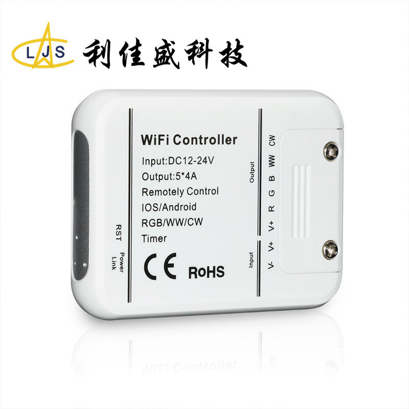 LJS Mạch bo Bộ điều khiển wifi 5 chiều rgbww nhiều màu sắc đầy đủ đèn led với dải ánh sáng mờ điều k