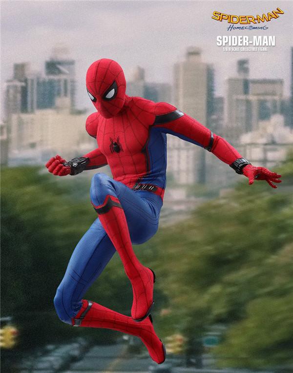 Đồ giảng dạy trẻ sơ sinh The Spider -Man's Expedition Return can Hand -made Model Sắp xếp đồ chơi M
