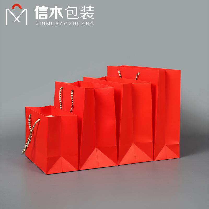 XINMU Túi giấy đựng quà Điểm đỏ lễ hội túi quà tặng túi xách tay giấy đám cưới dọc giấy túi đám cưới