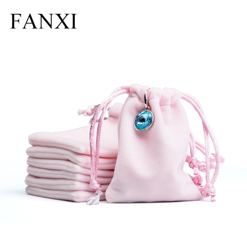 FANXI Túi đựng trang sức / Fanxi túi sang trọng màu hồng túi trang sức túi trang sức 50 / cái D00203